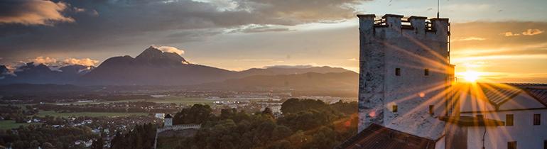 Hohensalzburg fortress, sunset