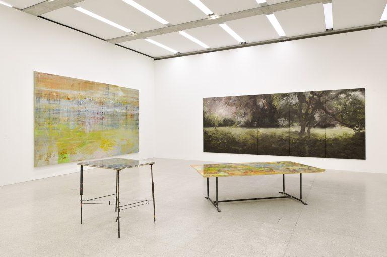Hubert Scheibl, Malerei – Prozess und Expansion, Ausstellungsansicht, 2010, mumok, Wien