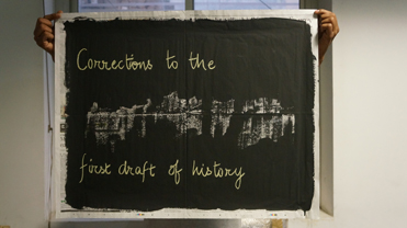 Plakat: Corrections to the first draft of history