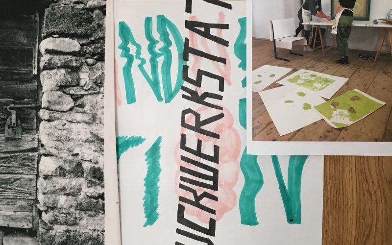 Door of the printing class with Ciara Phillips