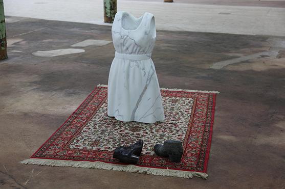 Karin Reichmuth, dressed in marble