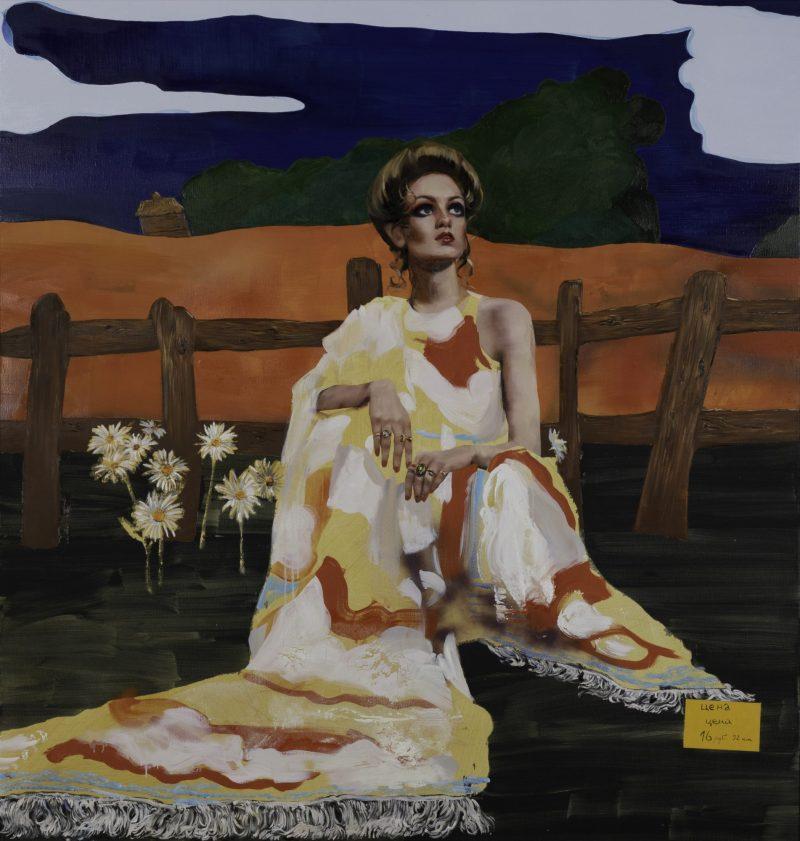 Painting by Paulina Olowska