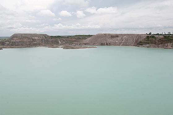 Sammy Baloji, Mine à ciel ouvert noyée de Mutoshi