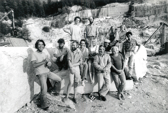 Students in the Kiefer quarry, 1987