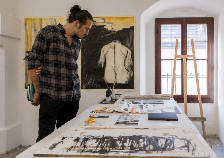 Tag der offenen Ateliers 2019, Klasse von Tobias Pils, Arbeiten von Eva Maria Gugg, Foto: Mira Turba