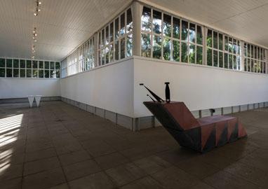 Noële Ody, exhibition view from streichelzoo, Stadtgalerie Zwergelgartenpavillon, Salzburg (AT)