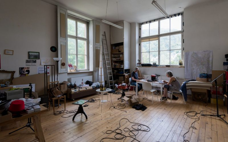 Summer Academy podcast studio with Dorit Ehlers and Arthur Zgubic
