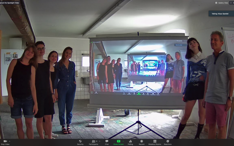 Summer Academy 2020, class of Louisa Elderton and Klaus Speidel, screenshot